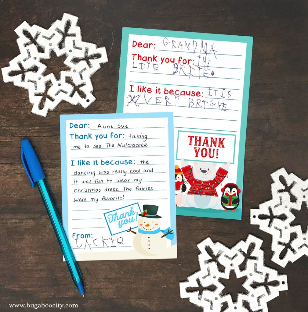 Free Printable Holiday Thank You Cards