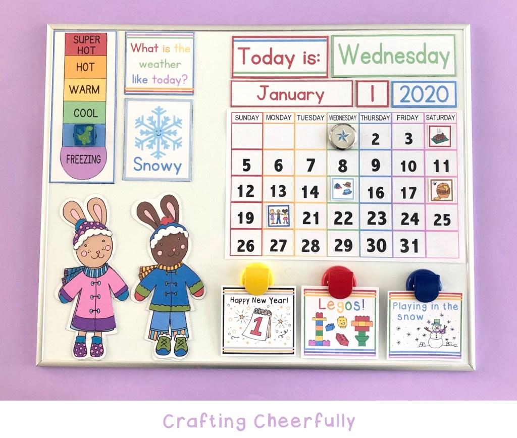 Printable DIY Children's Calendar
