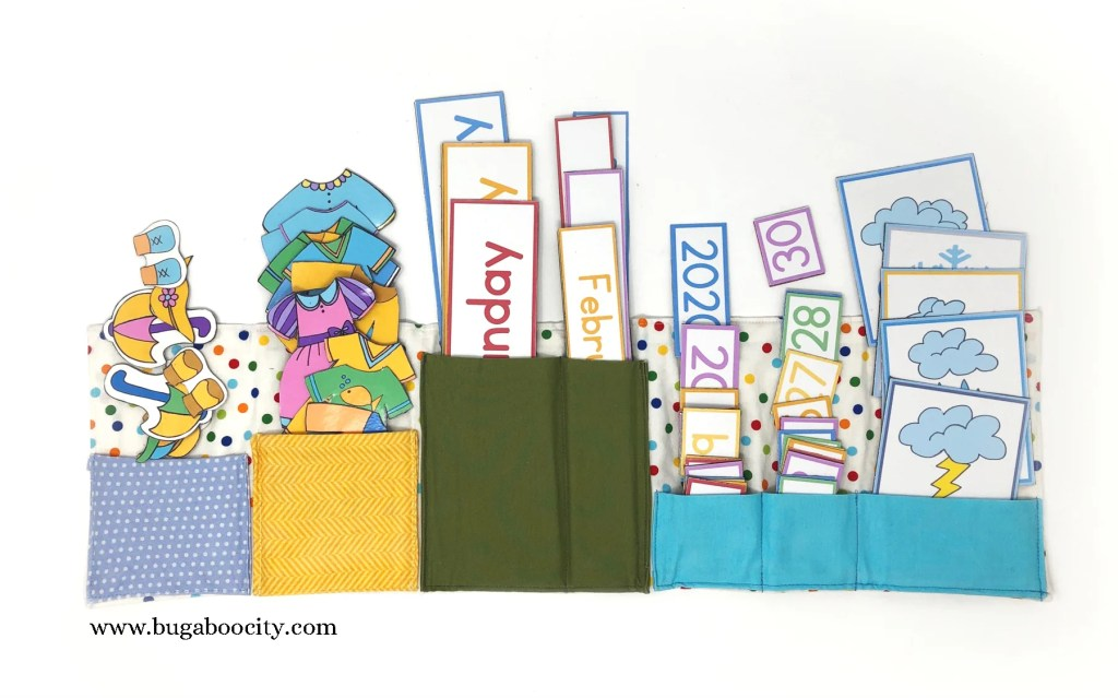 DIY Children's Calendar Fabric Magnet Holder