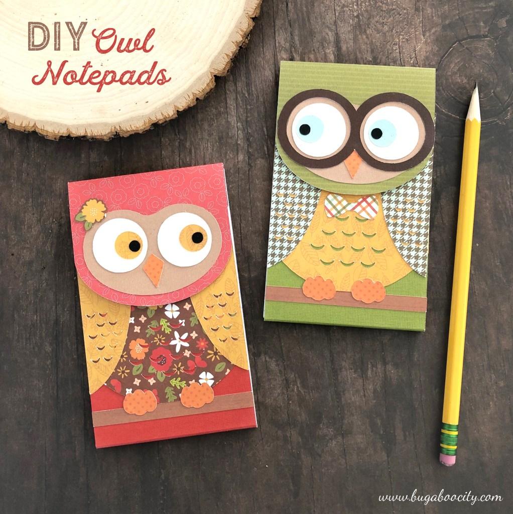 DIY Owl Notepads