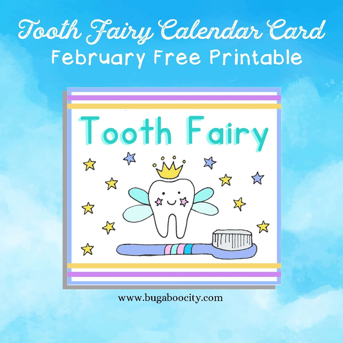 picture relating to Tooth Fairy Card Printable named No cost Every month Calendar Card - Composing Cheerfully