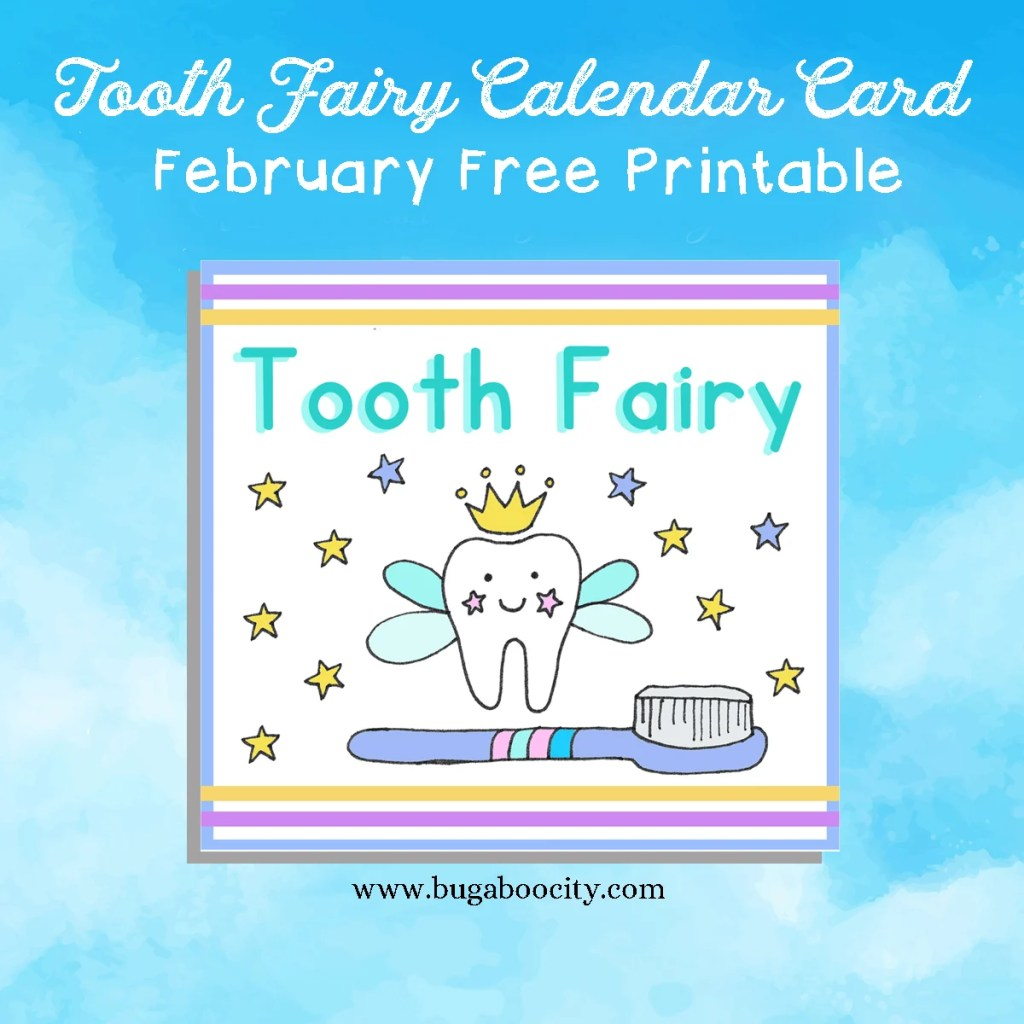Tooth Fairy Calendar Card