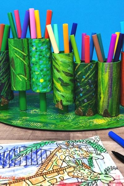 Hungry Caterpillar Craft – DIY Marker Holder