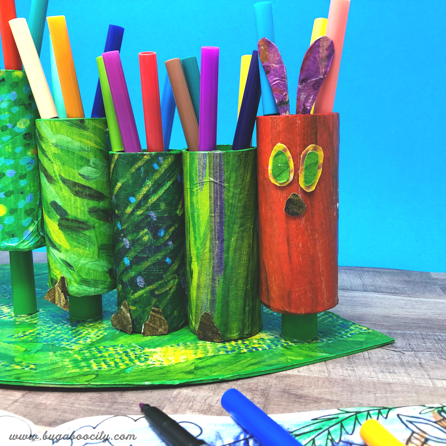 The Very Hungry Caterpillar Craft - DIY Marker Holder