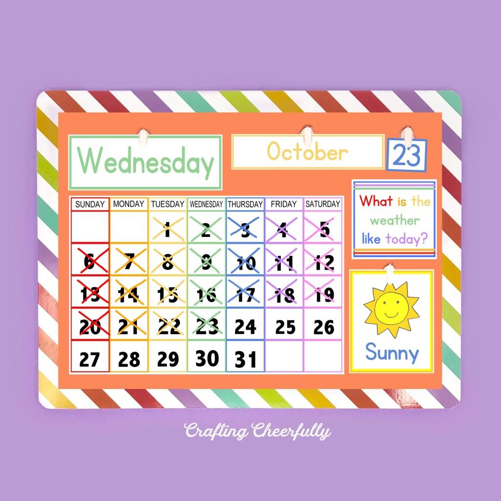 DIY Children's Calendar - Free Printables!