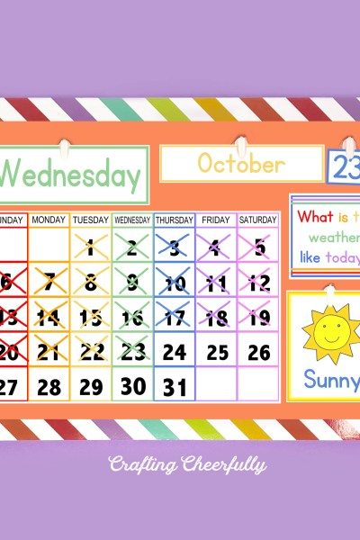 Free Printable Children's Calendar