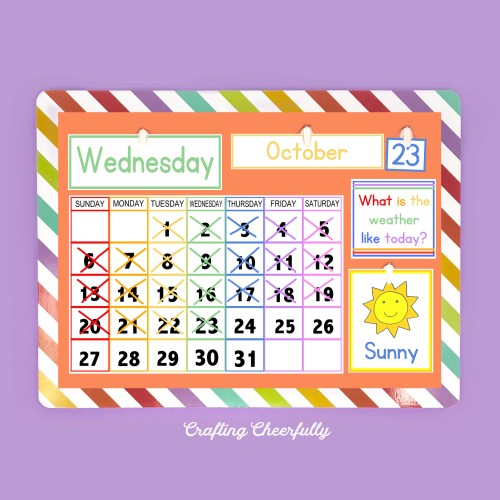DIY Children's Calendar