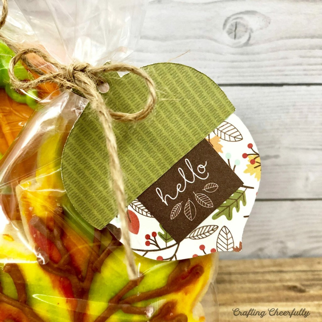 DIY Autumn Acorn Gift Tags with Free Template and SVG Cut File