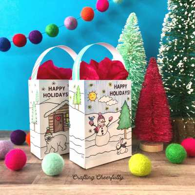 Color-Your-Own Holiday Gift Bag – Free Printable!