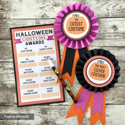 DIY Halloween Costume Award Ribbons