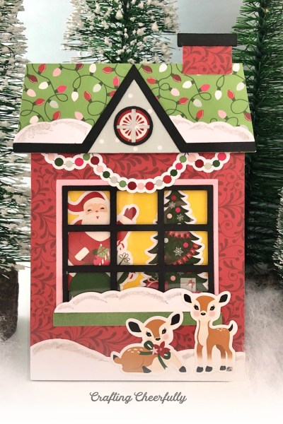 Christmas Cottage Pull Card – New SVG Cut File
