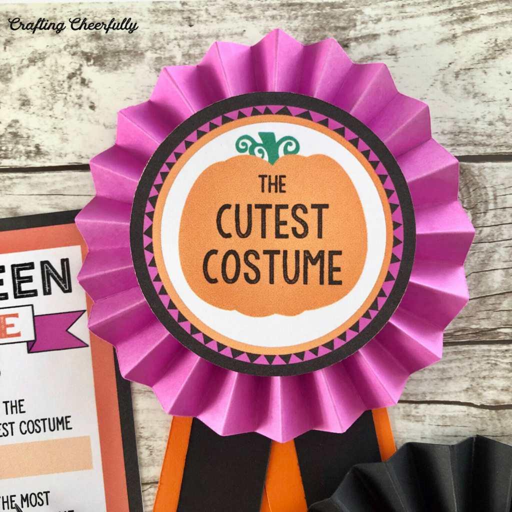DIY Halloween Costume Contest Award Ribbons