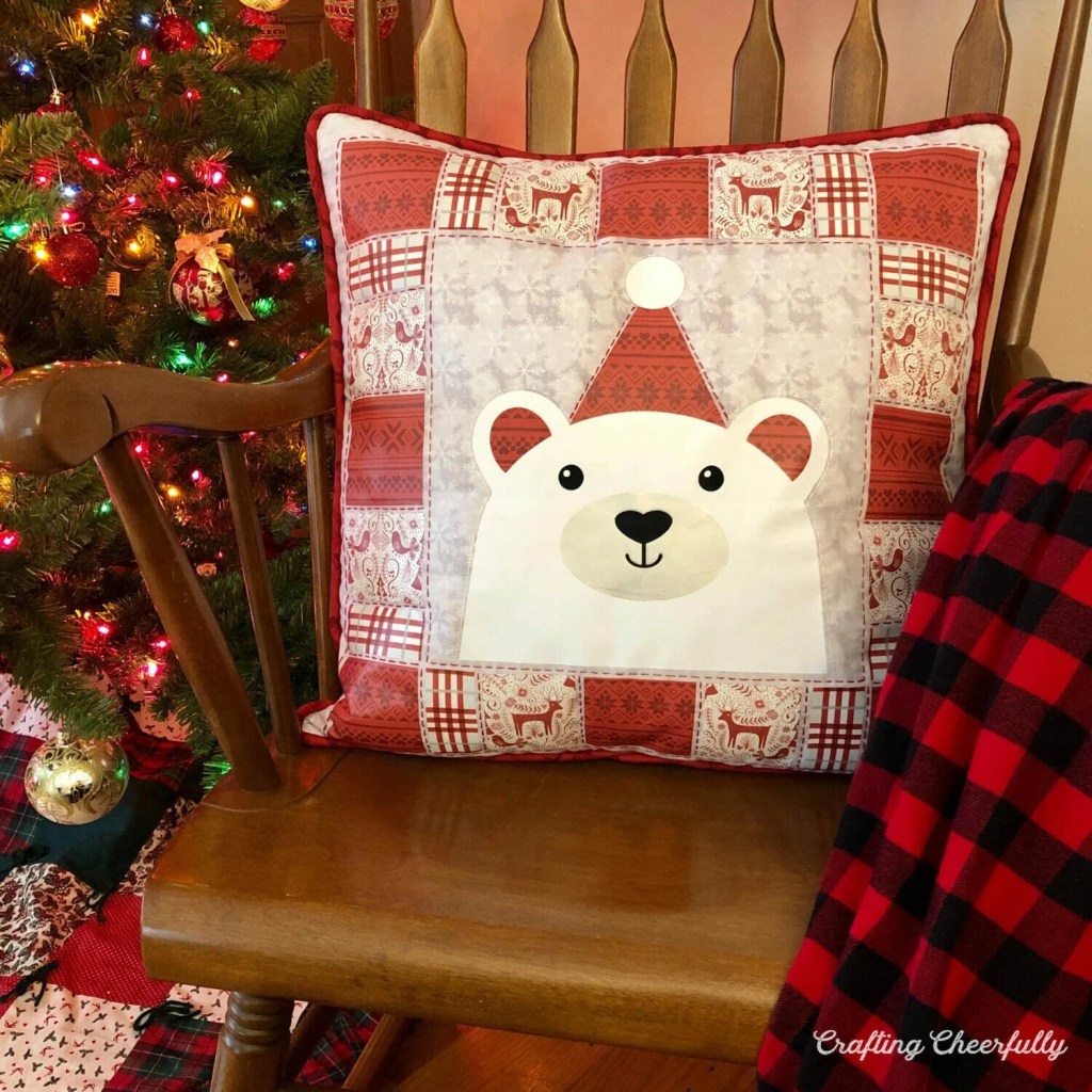DIY Holiday Pillow with Cricut Patterned Iron-On