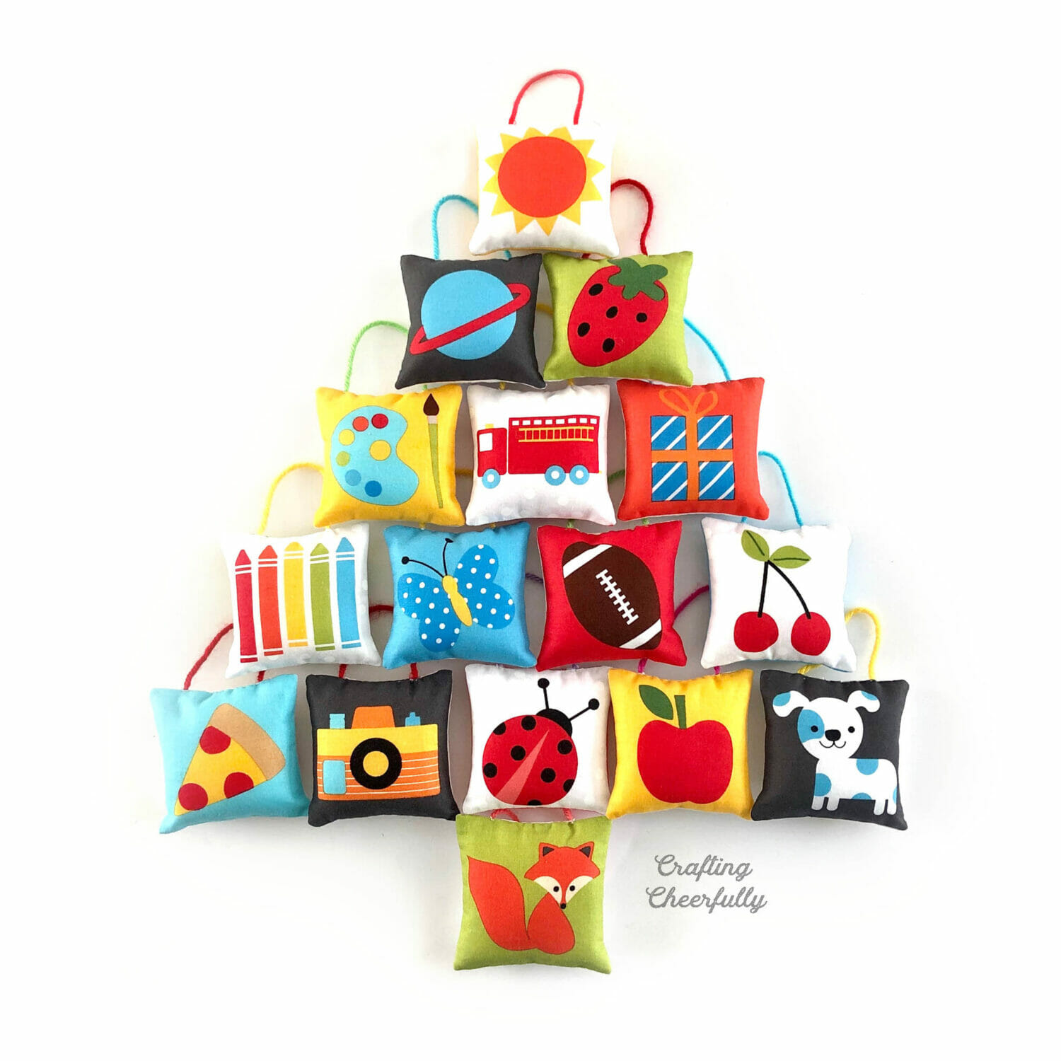 DIY Pillow Ornaments for a Kid-Friendly Christmas Tree