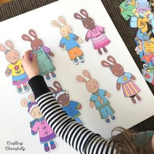 DIY Bunny Paper Dolls