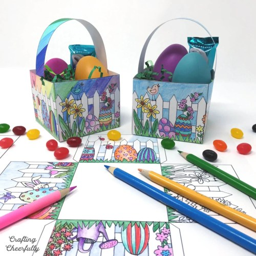 Color Your Own Easter Basket