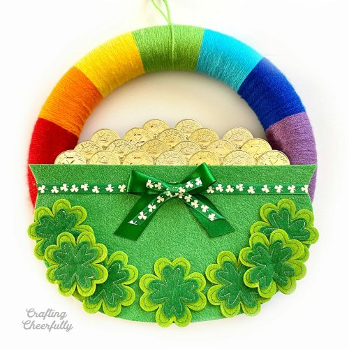DIY Rainbow St. Patrick's Day Wreath