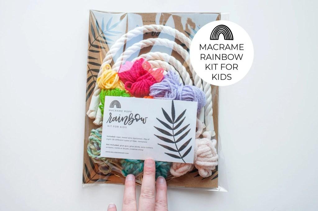 Hello Dear Heart Macrame DIY Rainbow Kit