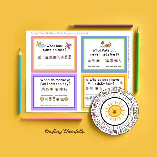 Spring Decoder Wheel - Free Printable Activity