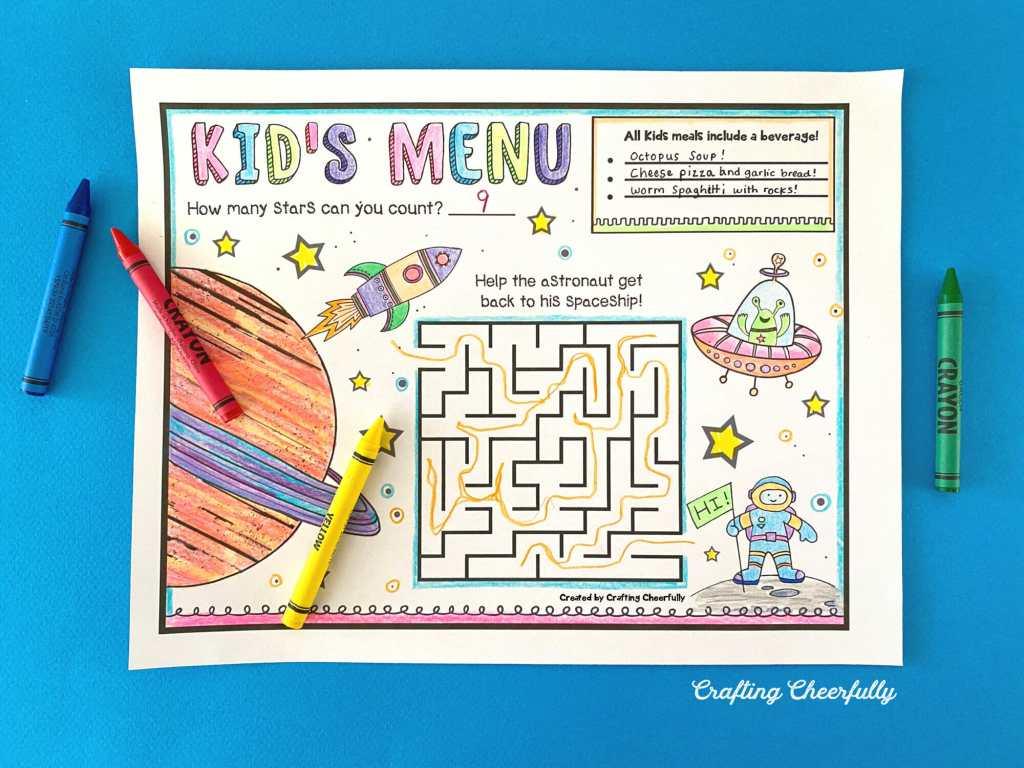 Fun Printable Kid's Menus