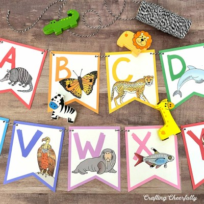DIY ABC Animal Banner