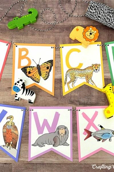 DIY ABC Animal Banner