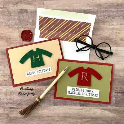 DIY Weasley Jumper Holiday Cards – Harry Potter Craft