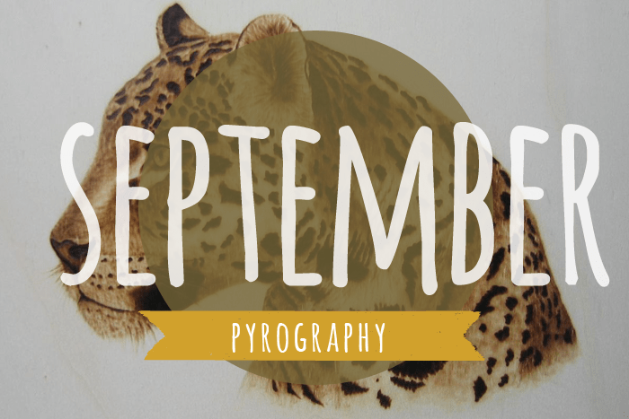 Learning pyrography in September on Crafting Fingers