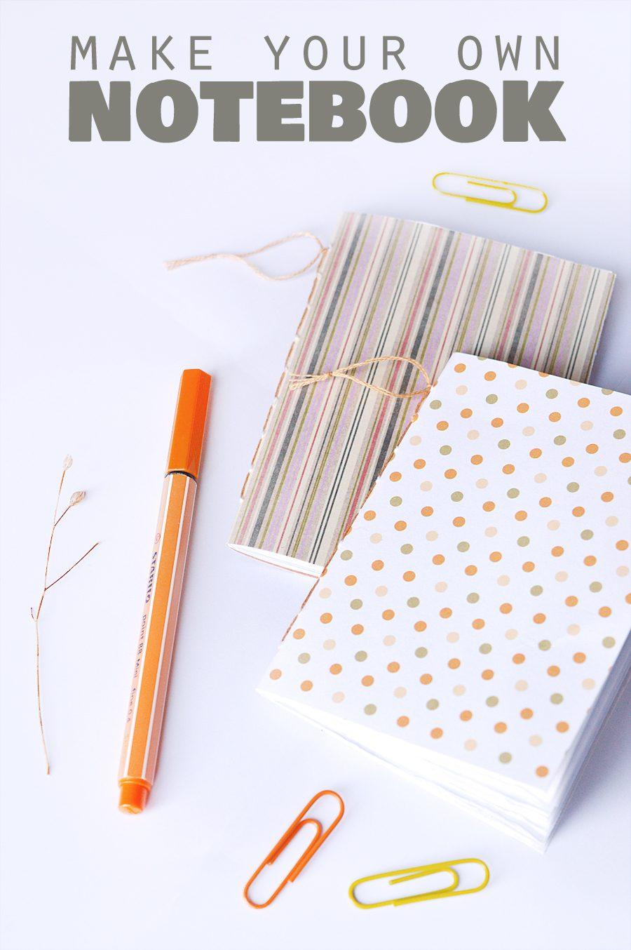 DIY notebook tutorial | craftingfingers.co.uk #stationery