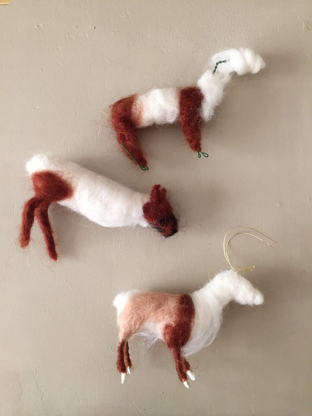 Behind the scenes - designing needle felt reindeer