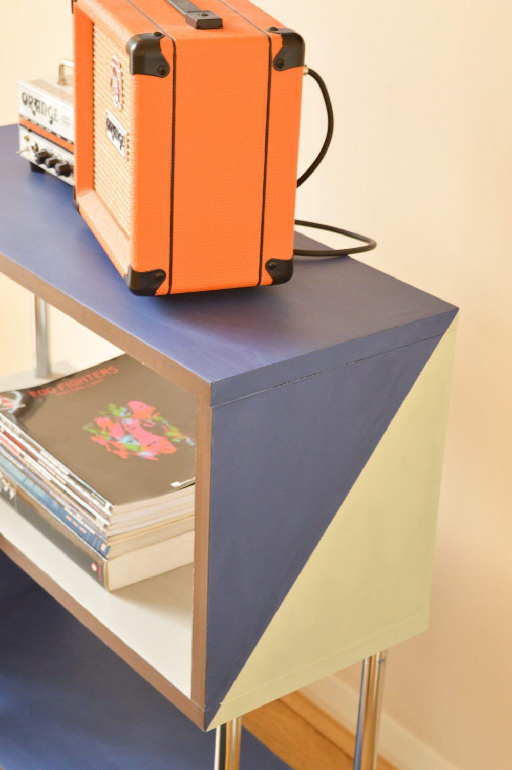 Rust Oleum Furniture Paint shelf makeover