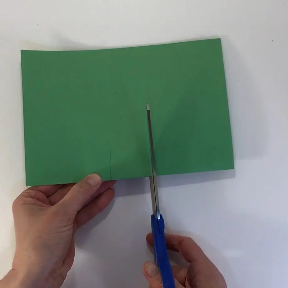 Fathers day football craft cut tab in green paper