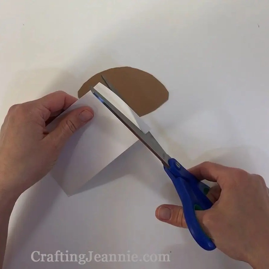 Fathers day football craft cutting out football laces