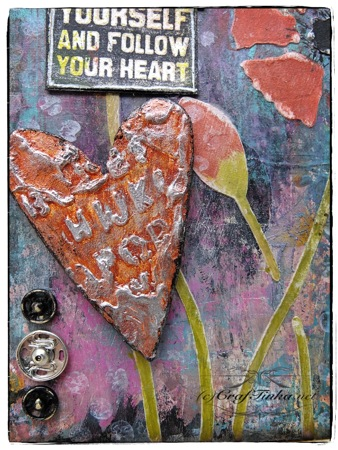 Be Yourself- Mixed Media Tag