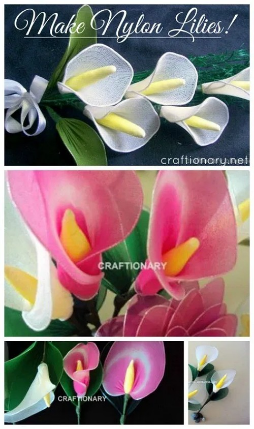 learn-to-make-nylon-lilies-tutorial-easy