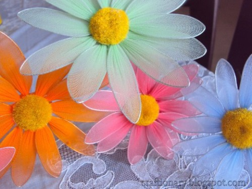 craft-nylon-flowers-daisy-diy-tutorial