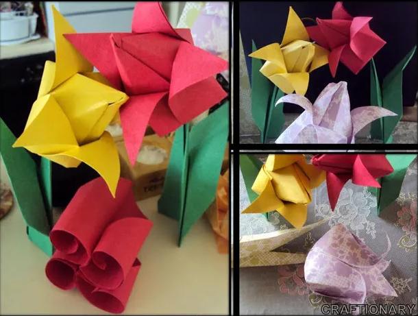 tulips-origami-flowers