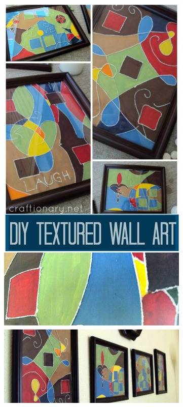 DIY wall art thread painting