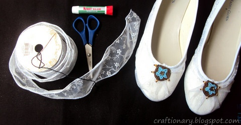 supplies-needed-to-make-lace-shoes-tutorial