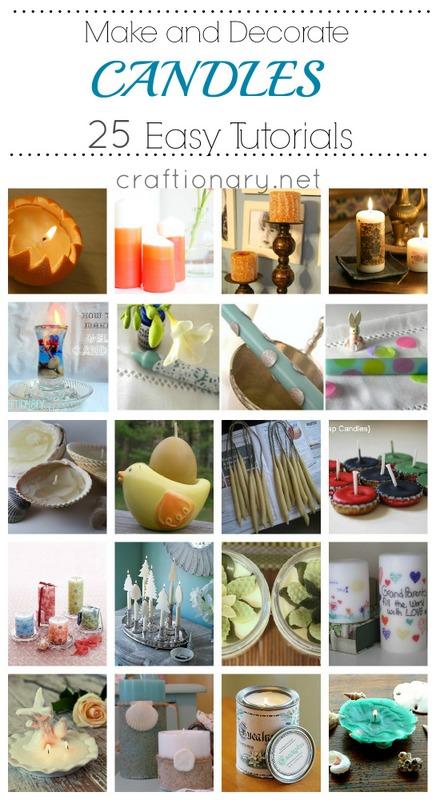 25 DIY Decorative Candles
