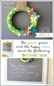paint chip wreath