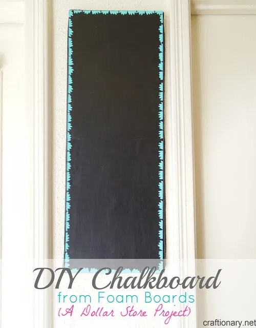 DIY-chalkboard-from-foam-board-dollar-store-project