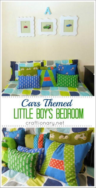 cars transportation themed boy bedroom
