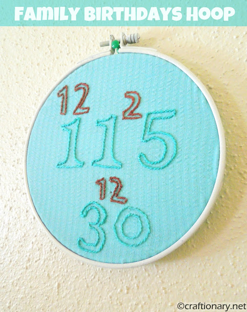 birthdays embroidery hoop tutorial