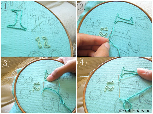 family birthdays embroidery hoop