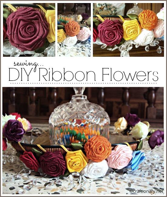 Handmade ribbon flowers