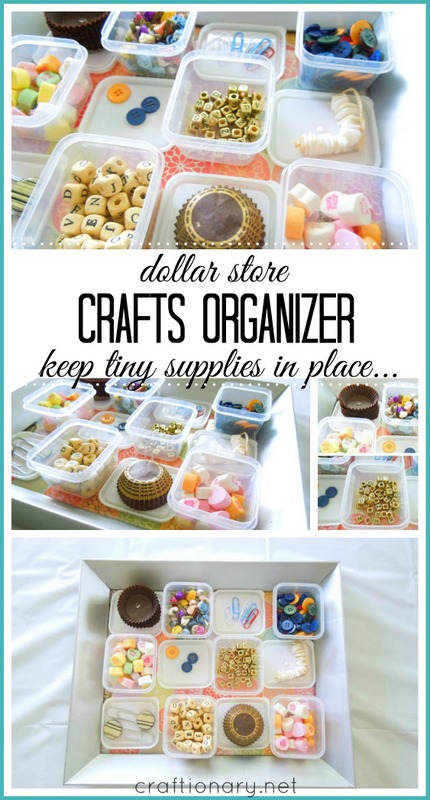 DIY crafts organizer #crafts #organization
