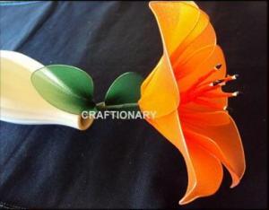 beautiful-lilium-lily-stocking-nylon-net-flower-craft-complete