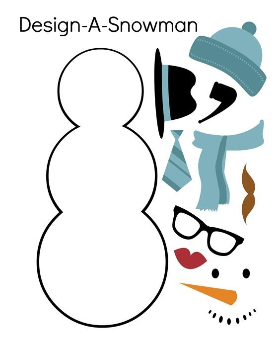 design a snowman printable
