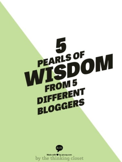blogging pearls of wisdom